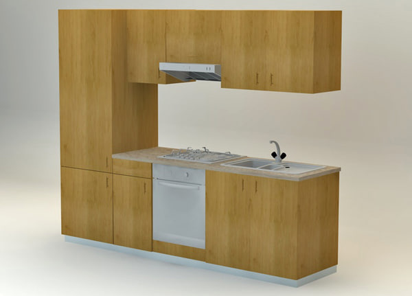 free c4d model kitchen furniture