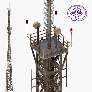 3d radio tower