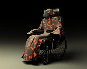 ghost wheelchair 3d max