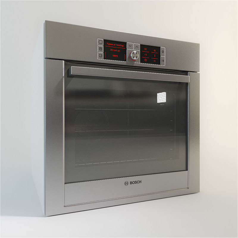 bosch integrated single oven 3d 3ds