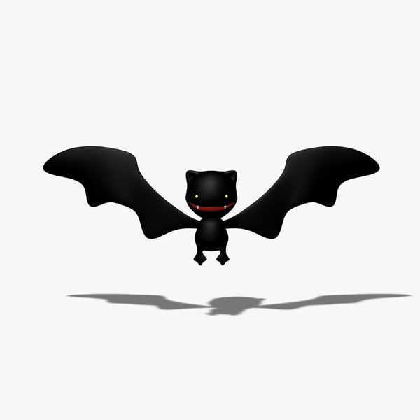 simple cartoon bat 3d 3ds
