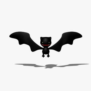 simple cartoon bat 3d 3ds