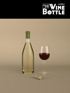 bottle wine 3d 3ds