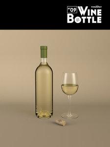 3ds max bottle 09 wine