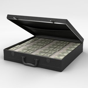 3d model briefcase money