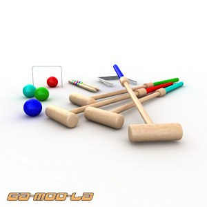 3ds max children croquet toy set