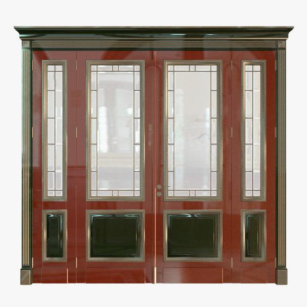 3d classic wood door model