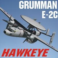 3d grumman e-2c hawkeye