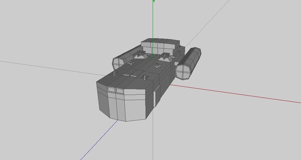 3d model of escort cruiser