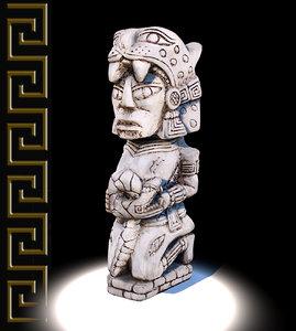 3d mayan figure replica model