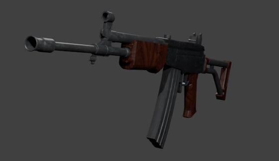3d galil rifle model