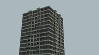 25 rise apartment building 3d model
