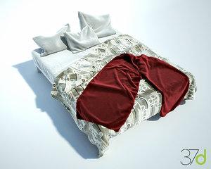 photorealistic bed 37d 3d max