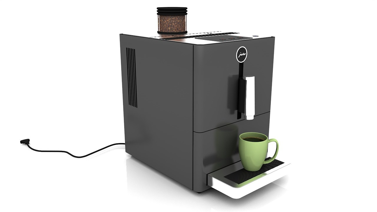 jura coffee machine c4d