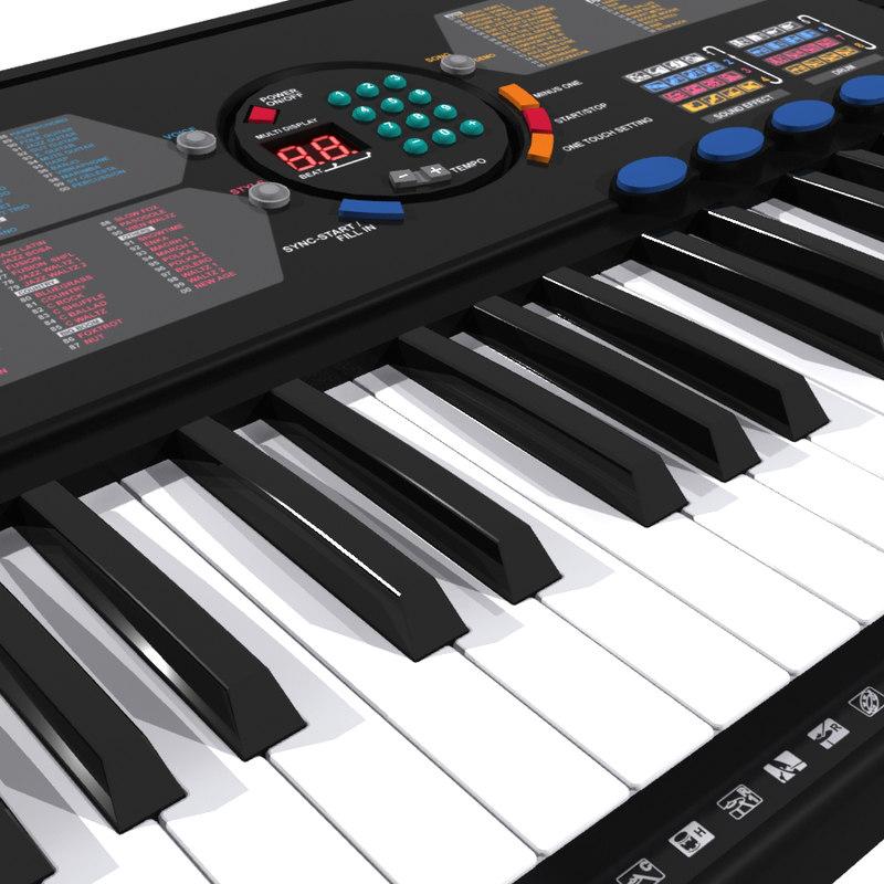 3d model of yamaha psr 180 for Yamaha piano keyboard 61 key psr 180