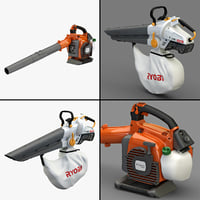 leaf blowers 3d model