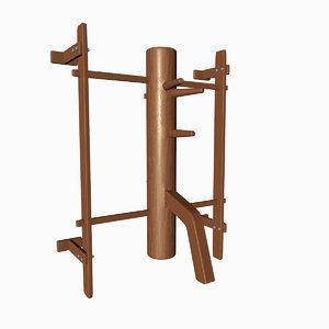 wooden dummy 3d c4d