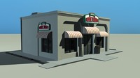 3d pizza restaurant