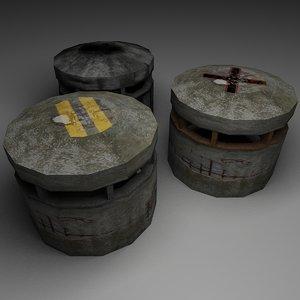 3d unity pill box
