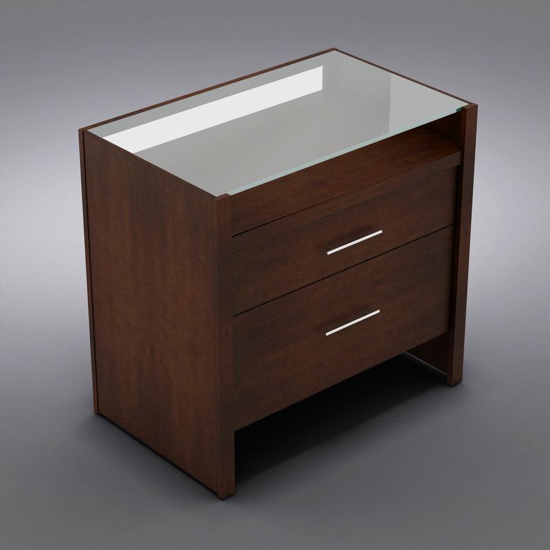 3d model crate barrel - desk