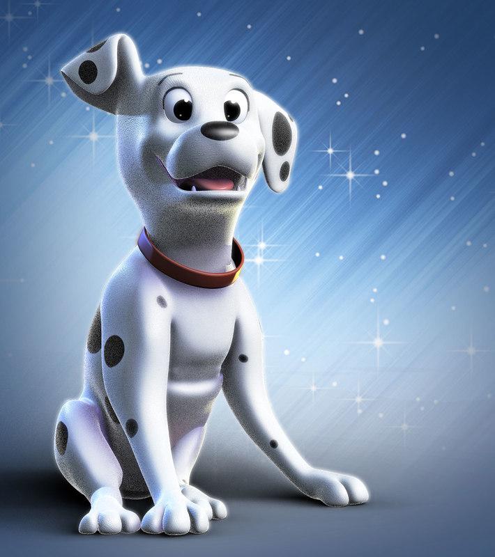 3d dog characer