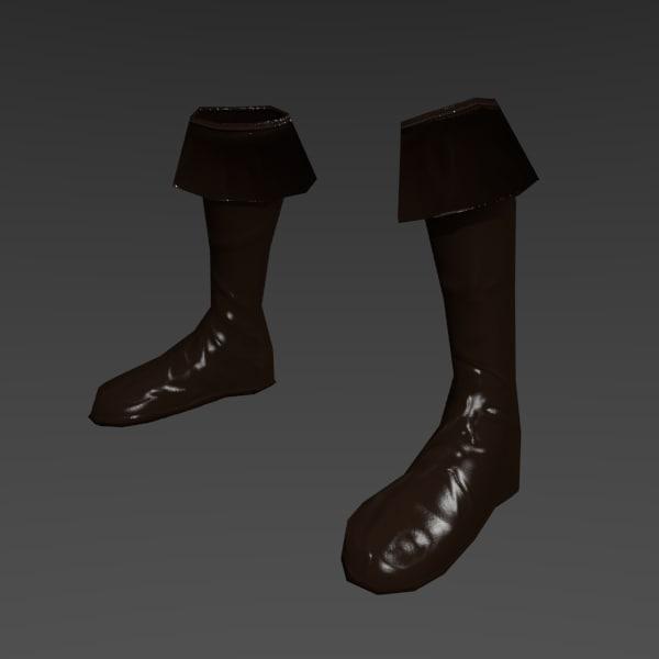 boots medieval obj