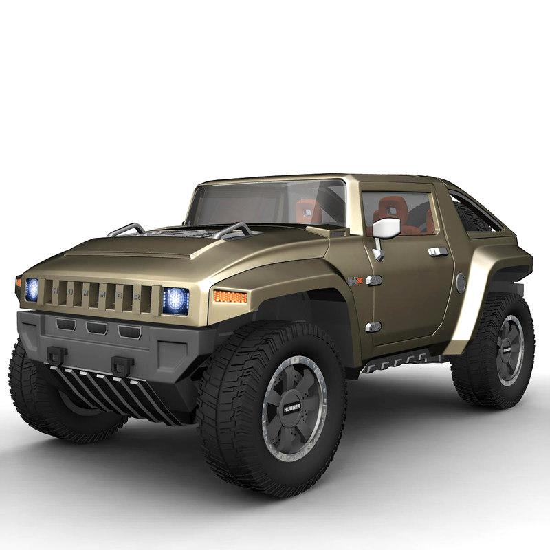 hummer hx 3d model