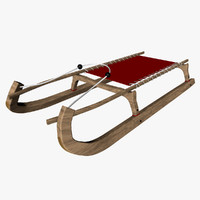 racing sledge sled 3d c4d