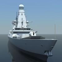 3d type 45 destroyer model