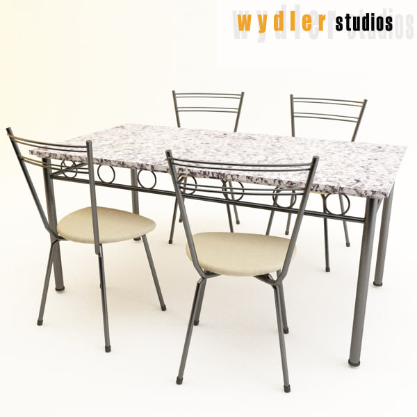 granite table chairs max