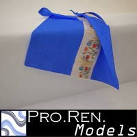 3d model blue towel -