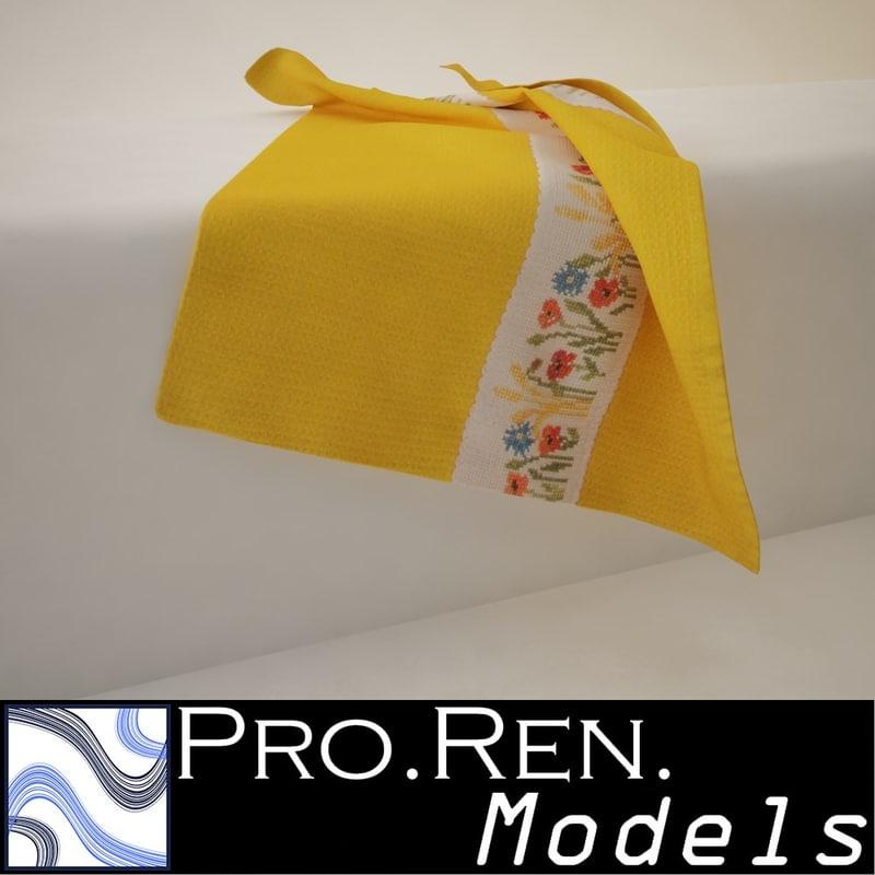 max yellow towel -