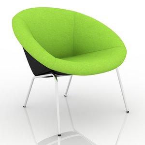 3d model walter knoll classic chair