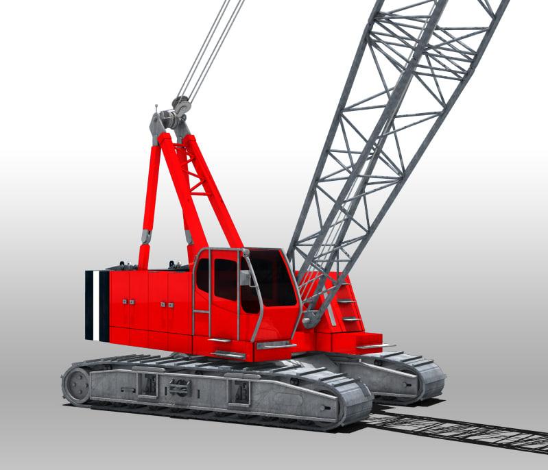 3d model yard crane construction