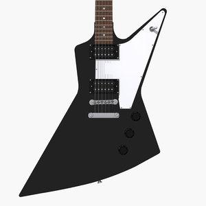 gibson explorer guitar 3d model