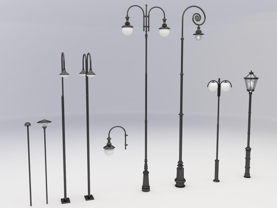 street lamps light 3d model