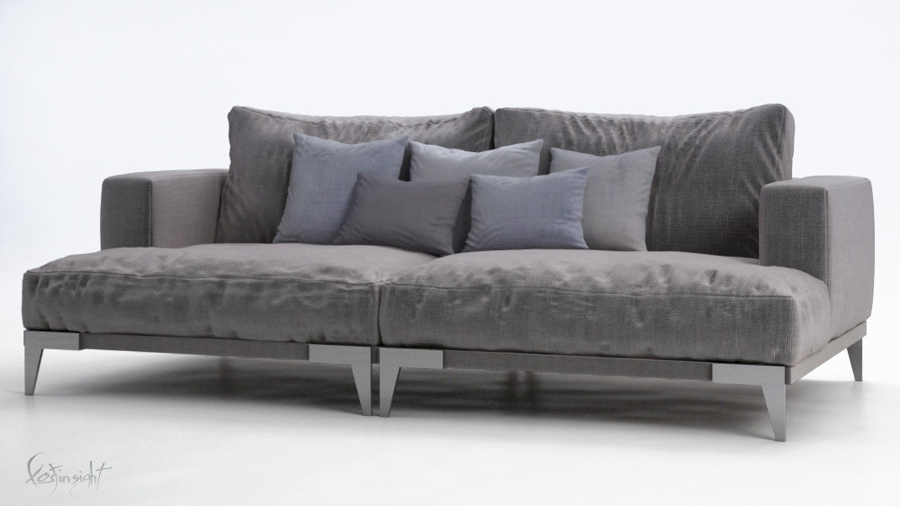3d model alberta blues sofa