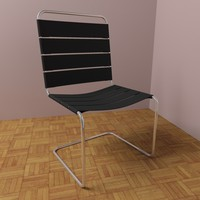Modern leather chair V2