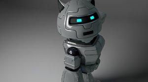 3dsmax robot droid cyborg
