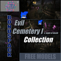 3d level cemetery evil model