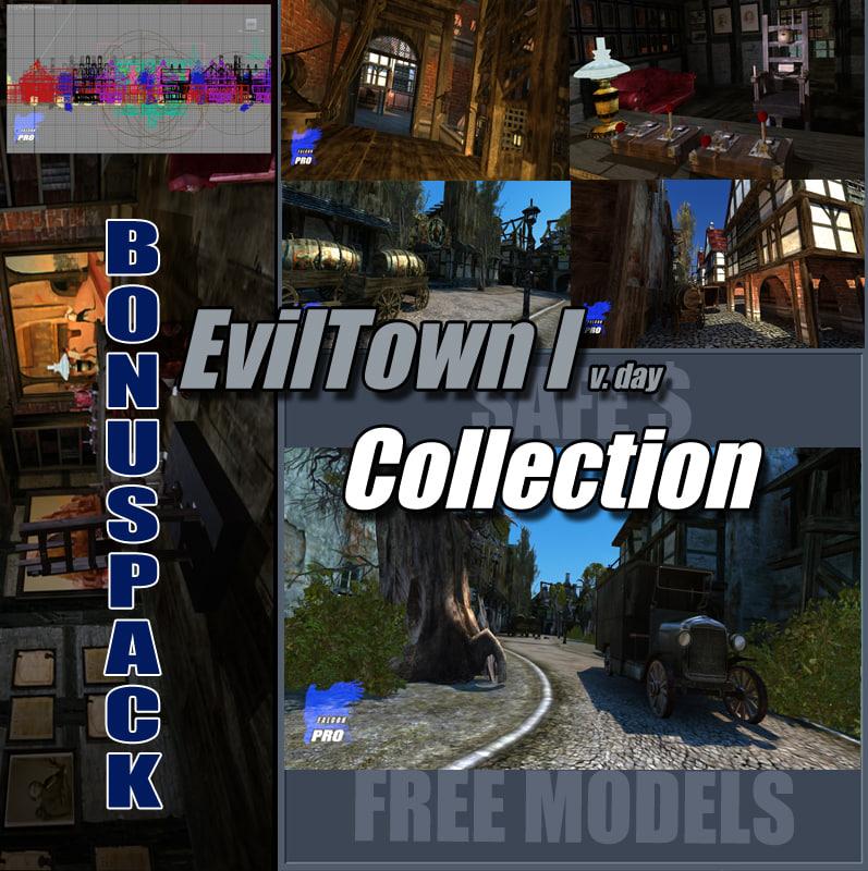level town evil 3d model
