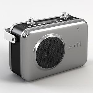 dualit radio 3d model
