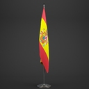spanish flag 3D models