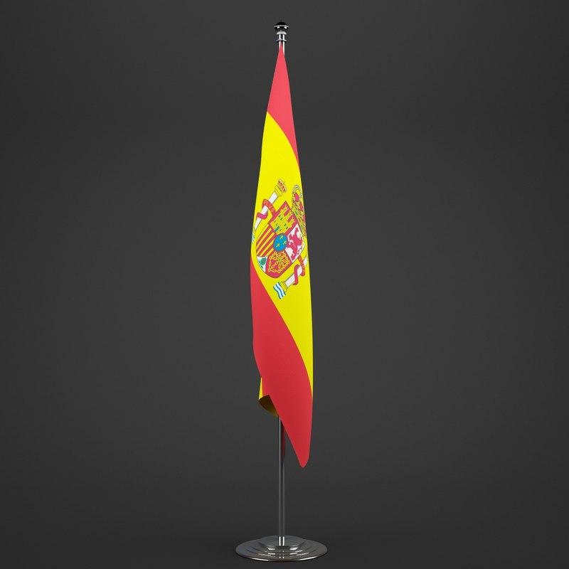 spain flag pole 3ds
