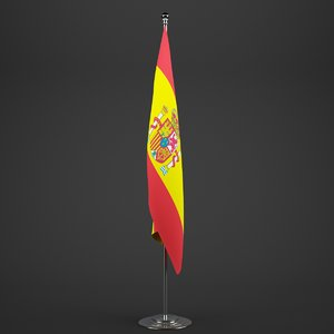 spain flag pole 3ds