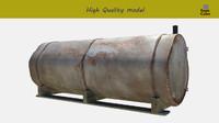 3d model tank gas