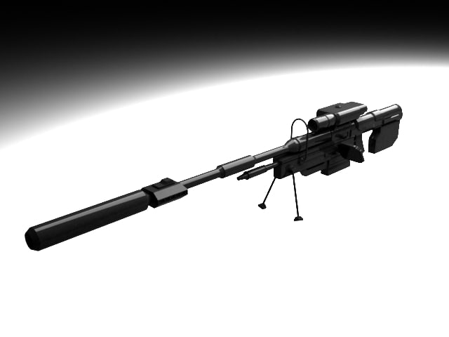 free modified halo 3 sniper rifle 3d model