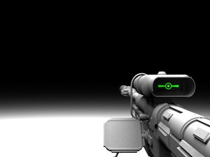 free modified halo 3 sniper rifle 3d model