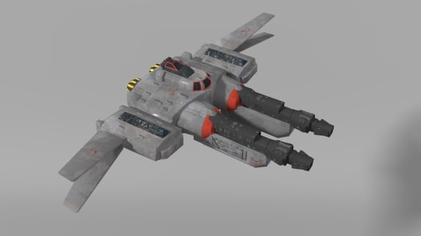 3ds max space fighter