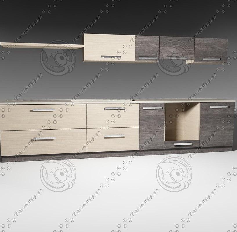 3d kitchen furnitures pack 1